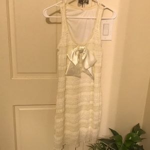 Stretchy Off White Dress